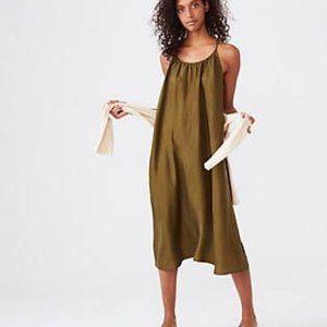 Lou & Grey Silk Strappy Racerback Dress XS
